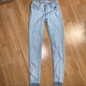 Levis 710 light blue jeans